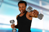 Man Working Out — Stock Photo