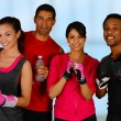 Stock Photo: Group Boxing