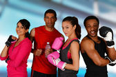 Group Boxing — Stock Photo