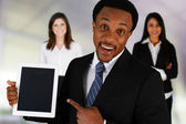 Businessman With Ipad — Stock Photo