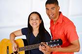 Teen Guitar Player — Stock Photo