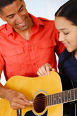 Teen Guitar Player — Stock Photo