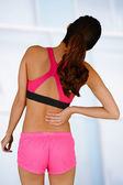 Woman With Back Pain — Foto de Stock