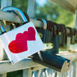 Royalty-Free Stock Photo: Two hearts lock