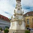 Plague column in Budapest Fisherman's Bastion — Stock Photo