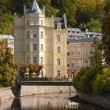 Royalty-Free Stock Photo: House on the canal bank in Karlovy Vary