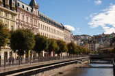 Streets and canals in Karlovy Vary — Stock Photo