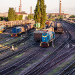 Train and the train depot — Stock Photo #26830791