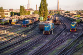 Train and the train depot — Stock Photo