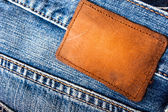 Bezeichnung auf der jeans — Stockfoto