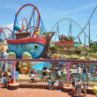 Сhilds attractions in the Port Aventura - Foto Stock