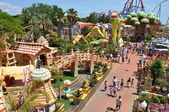 Сhilds attractions in the Port Aventura — Stock Photo