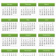 Stock Photo: Green 2013 calendar