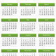 Green 2013 calendar — Stock Photo