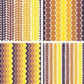 Seamless retro geometric pattern — Stock Vector