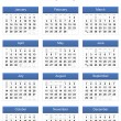 Blue 2013 calendar — Stock Photo