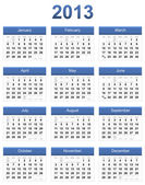 Blue 2013 calendar — Stock Photo