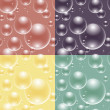 4 seamless bubbles pattern — Stock Vector