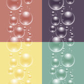 Four seamless pattern with bubbles — Stock Vector