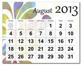 August 2013 calendar — Stock Vector