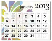 January 2013 calendar — Stock Vector