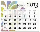 March 2013 calendar — Stock Vector