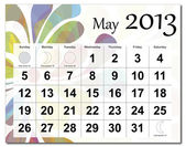 May 2013 calendar — Stock Vector