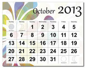 October 2013 calendar — Stock Vector