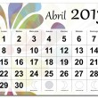 Spanish version of April 2013 calendar — Stock Vector