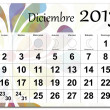 Spanish version of December 2013 calendar — Stock Vector