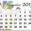 Spanish version of November 2013 calendar — Stock Vector