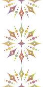 Красочные цветочные вертикальные бесшовный узор на белом фоне — Cтоковый вектор