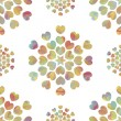 Colorful floral seamless over white background - Stockvektor