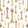 Colorful arrows seamless pattern over white background - Stok Vektr