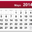 May 2014 calendar — Stock Vector