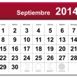September 2014 calendar — Stock Vector