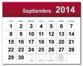 September 2014 calendar — Stock Vector