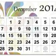 Stockvector : December 2014 calendar
