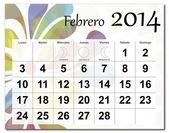 February 2014 calendar — Stock Vector