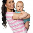 Stock Photo: Mother and baby