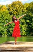 Mutlu kadın — Stok fotoğraf