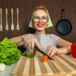 Rural woman cook — Stockfoto