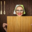 Rural woman cook — Stock Photo