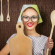 Stock Photo: Woman cook