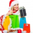 Santa claus woman — Foto Stock
