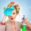 Stock Photo: Cleaning lady