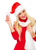 Santa claus woman — Foto de Stock