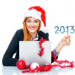 Christmas business woman — Stock Photo #16321507