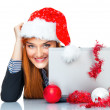 Christmas business woman — Stock Photo