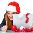 Christmas businesswoman — Stock Photo